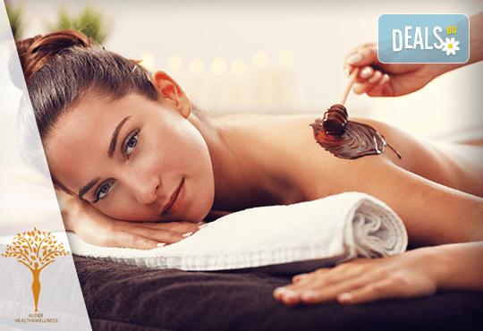 90-минутна шоколадова СПА терапия, ароматни свещи и бонбони в Alder health&wellness