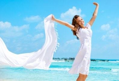 На плаж в Амолофи и разходка в Кавала през юни или юли с ТА Солео 8! 2 нощувки със закуски в Oceanis 3*, транспорт и екскурзовод - Снимка