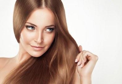 Забележителна коса! Подстригване + кератинова терапия и стилизиране на прическа със сешоар в Wave Studio-НДК - Снимка