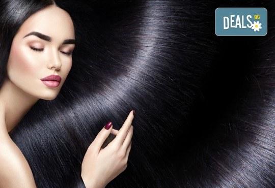За блестяща и красива коса! Трайно изправяне с бразислки кератин и подстригване в салон за красота Веслец! - Снимка 2