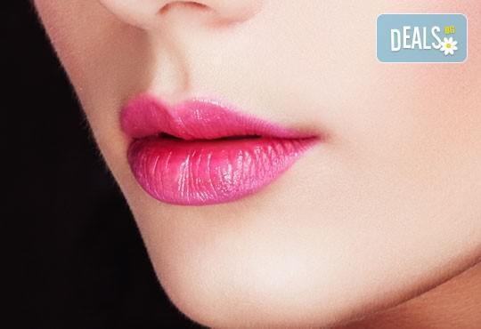 Безиглено уголемяване и уплътняване на устни чрез влагане на хиалурон с ултразвук - 1, 6 или 8 процедури от NSB Beauty Center! - Снимка 2