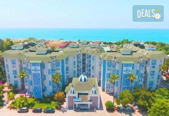 Почивка през юни в The Garden Beach Hotel 5*, Алания, Турция! 7 нощувки на база All Inclusive и възможност за транспорт от Запрянов Травел - Снимка 1