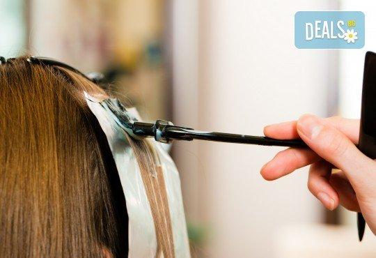 Цялостна грижа за Вашата коса с боядисване, подстригване и оформяне на прическа по избор в салон за красота Коса и Грим! - Снимка 4