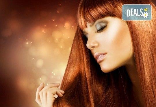 Цялостна грижа за Вашата коса с боядисване, подстригване и оформяне на прическа по избор в салон за красота Коса и Грим! - Снимка 3