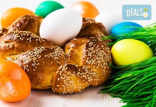 За Великден! ТРИ козунака: с локум, мармалад, златна стафида и филиран бадем от Пекарна Bake & Take - Снимка 1