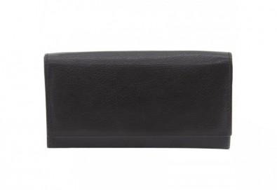 Вземете дамско портмоне в черен цвят от естествена кожа и RFID защита за безконтактни кредитни карти на марката Friedrich! - Снимка