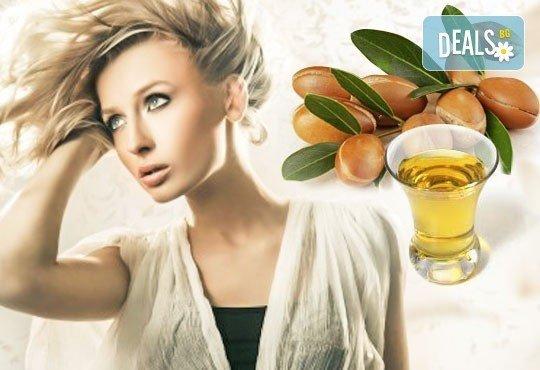 Освежете прическата си! Арганова терапия за коса с инфраред преса, подстригване и плитка или оформяне с преса в студио Relax Beauty&Spa! - Снимка 1