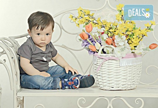 Пролетна семейна или детска фотосесия със 160-180 кадъра и фотокнига с твърди корици по желание от Photosesia.com! - Снимка 2