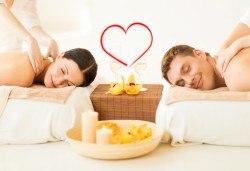 Лукс и романтика! Романтичен масаж за двама със златни частици и комплимент бяло вино в SPA център Senses Massage & Recreation! - Снимка