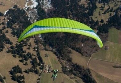 Височинен тандемен полет с парапланер от до 2000 метра - свободно летене от Витоша, Сопот, Беклемето или Конявската планина със заснемане с HD аction камера от Dedalus Paragliding Club! - Снимка