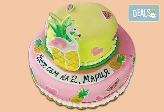 За принцеси! Торта с 3D дизайн с корона, еднорог или друг приказен герой от Сладкарница Джорджо Джани! - Снимка 1