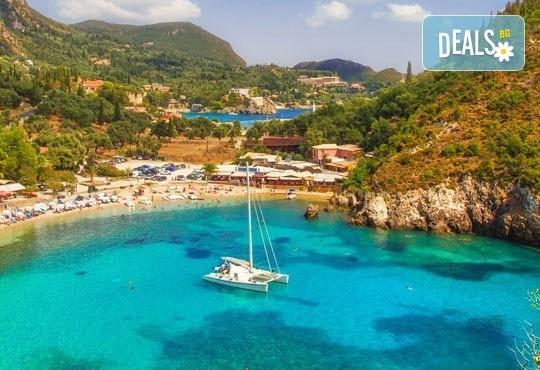 Почивка през септември на остров Корфу, Гърция! 4 нощувки със закуски и вечери или на база All Inclusive, транспорт, фериботни такси и билети! - Снимка 1