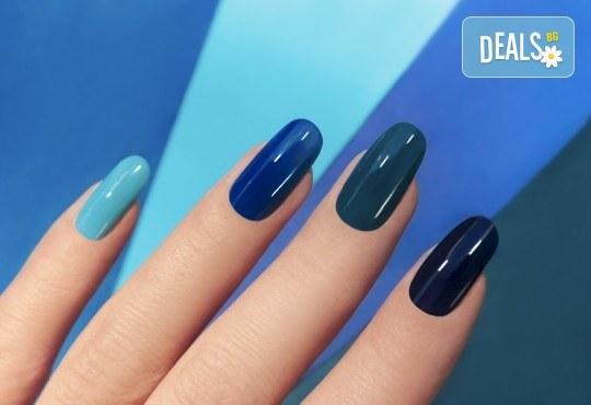 Маникюр с гел лак BlueSky в салон за красота Belisimas