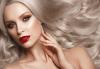 Нов цвят! Боядисване с Ваша боя, масажно измиване с шампоан според типа коса, нанасяне на маска и оформяне на прическа със сешоар в Bossa Nova! - thumb 1