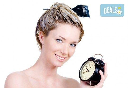 Боядисване с боя на клиента, подстригване, масажно измиване с продукти за запазване на цвета и подсушаване от Beauty center D&M! - Снимка 3