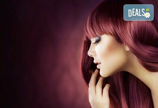 Боядисване с боя на клиента, подстригване, масажно измиване с продукти за запазване на цвета и подсушаване от Beauty center D&M! - Снимка 2