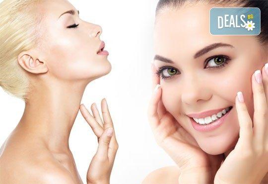 Красива кожа! Масаж на лице, шия и деколте и нанасяне на ампула с ултразвук според типа кожа в салон за красота Cuatro! - Снимка 1