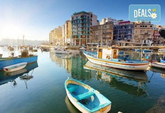 Екскурзия до Малта през октомври с Дари Травел! 4 нощувки със закуски в хотел 3* в Сейнт Джулианс, самолетен билет, трансфери и застраховка - Снимка 1