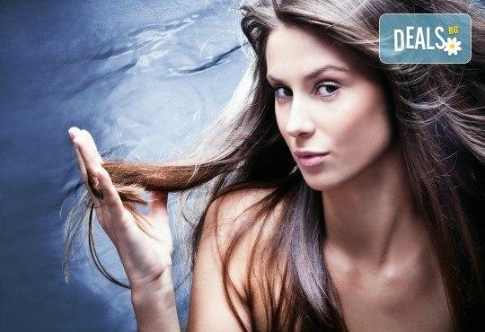 Подстригване, нанасяне на терапия според нуждите на косата и оформяне със сешоар във Фризьорски салон Никол! - Снимка 1
