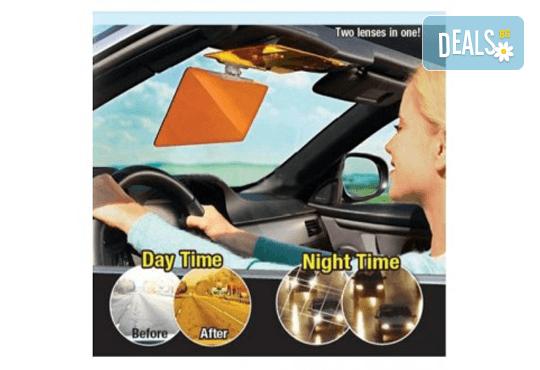 За Вашия автомобил! 2 броя HD Visor сенника за кола за дневно и нощно шофиране от Магнифико! - Снимка 2