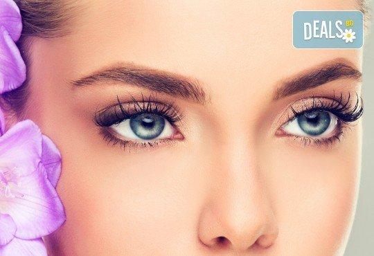 Поставяне на мигли по метода косъм по косъм или 3D в салон за красота Goldy Style! - Снимка 1