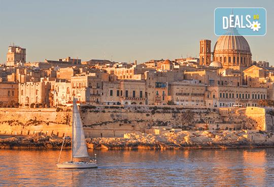 Есенна екскурзия до забележителната Малта! 3 нощувки със закуски в хотел 3*, самолетен билет с летищни такси и включен голям салонен багаж! - Снимка 1
