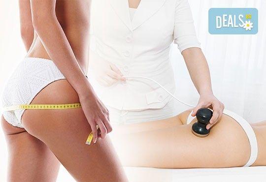 Трифазна антицелулитна процедура чрез ултразвукова кавитация, вакуумен масаж и Lipoglaucin ТМ на корем, бедра, ханш и паласки в дермакозметични центрове Енигма! - Снимка 3