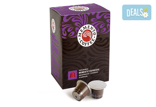 Наслада за сетивата! Капсули Memento® Espresso, Nespresso®* Standard - 10 или 100 броя, от Café Memento! - Снимка 1