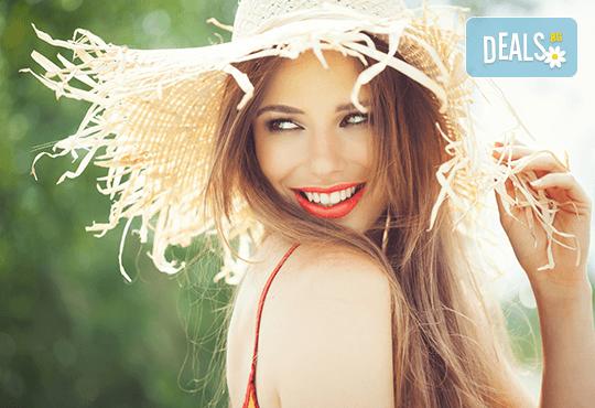 Красива визия! Калифорнийски кичури, подстригване, оформяне на прическа и бонус: 30% отстъпка от козметични процедури в студио Галинея! - Снимка 1