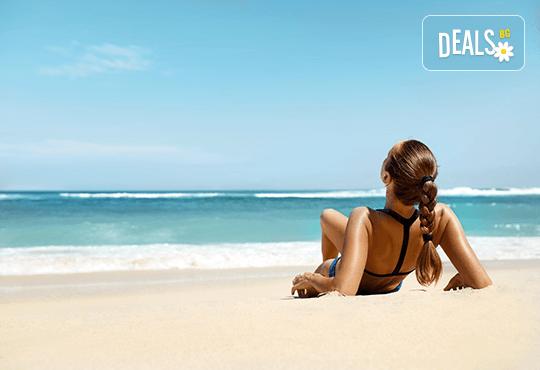 За 1 ден на плаж в слънчевата Аспровалта в Гърция с транспорт и екскурзовод от Глобул Турс! - Снимка 1