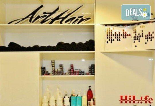 Масажно измиване с професионални продукти, подстригване и оформяне на прическа със сешоар в Art Hair Galerie! - Снимка 5