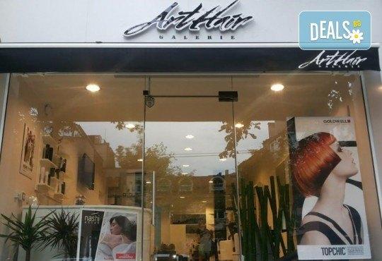Масажно измиване с професионални продукти, подстригване и оформяне на прическа със сешоар в Art Hair Galerie! - Снимка 11