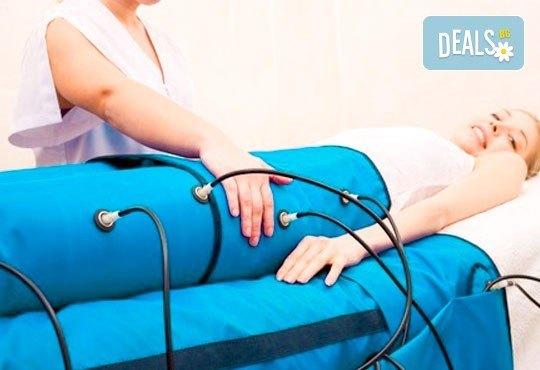 Грижа за здравето и фигурата! 30-минутен лимфодренажен пресотерапевтичен масаж в център GreenHealth! - Снимка 3
