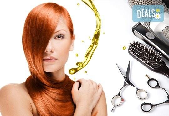 Нова прическа! Подстригване, терапия с масло от Амла, масажно измиване и прав сешоар в салон Diva! - Снимка 1