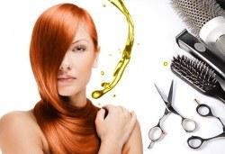 Нова прическа! Подстригване, терапия с масло от Амла, масажно измиване и прав сешоар в салон Diva! - Снимка