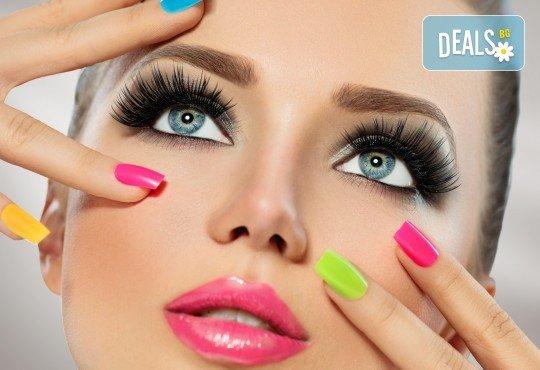 Красиви и дълготрайни цветове! Изграждане с гел, маникюр с BlueSky, 4 декорации или камъчета, пилинг и масаж на ръцете в New faces-beauty studio! - Снимка 1