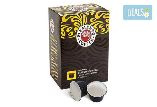 Ароматно кафе! Вземете капсули Memento® Espresso, Lavazza Blue®* Standard - 10 или 100 броя, от Café Memento! - Снимка 1