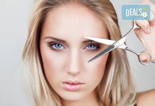 Терапия против косопад с инфраред преса и ампула, подстригване и прическа със сешоар в козметично студио Beauty - Снимка 3