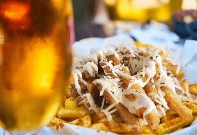 Вземете хрупкави пържени картофки със сирене и 2 бири от Royal Place Shisha Bar! - Снимка