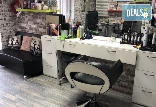 Нова прическа! Боядисване с боя на клиента, кератинова терапия и прав сешоар в салон Diva! - Снимка 7
