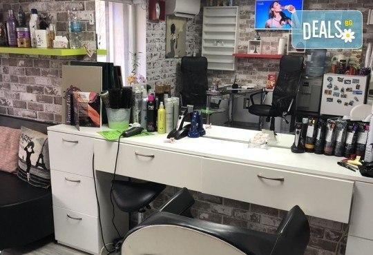 Нова прическа! Боядисване с боя на клиента, кератинова терапия и прав сешоар в салон Diva! - Снимка 9