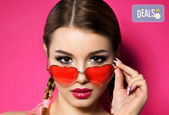Приковаващи очи! Поставяне на 3D мигли от естествен косъм в салон за красота Женско царство - Студентски град! - Снимка 1