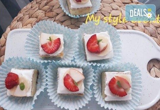 Сладко изкушение! 30 броя тортички със сметана и пресни плодове в кутия от My Style Event! - Снимка 6