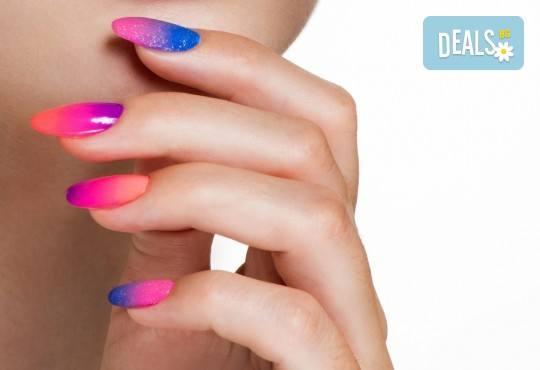 Декоративен и траен маникюр в стил омбре с най-новите гел лакове на Astonishing Nails в Дерматокозметични центрове Енигма! - Снимка 1