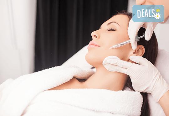 Инжективна мезотерапия на лице, шия и деколте или комбинация от тях Център Енигма