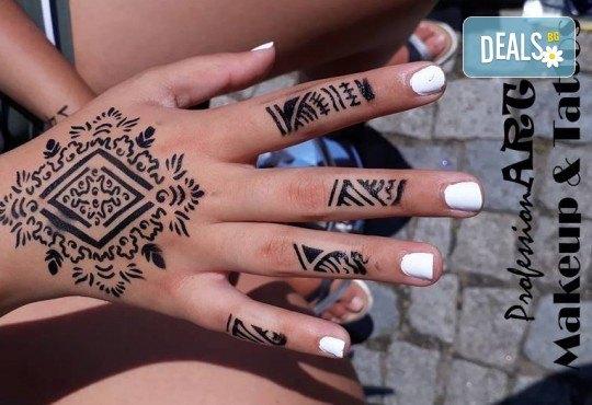 Почитатели сте на татуировките? Временна татуировка с аерограф с боя или блестяща татуировка с глитър в Соларно студио Какао! - Снимка 4