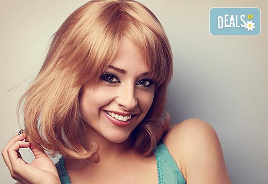 Красива коса! Масажно измиване, нанасяне на маска, подстригване и оформяне на прическа в студио за красота Jessica - Снимка 1