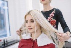 Боядисване с професионална боя, терапия на коса с арган или кератин и прав сешоар в студио за красота Jessica! - Снимка