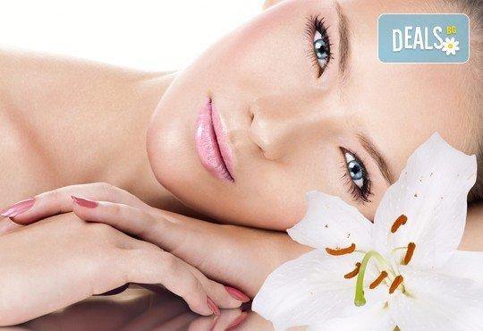 За кожа без несъвършенства! Ултразвуково почистване на лице, четков пилинг с боровинка и антиакне или колагенова мезотерпия от Изабел Дюпонт Студио! - Снимка 3