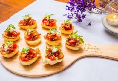 Микс от 75бр. брускети с прошуто крудо, бекон, домати и разнообразни сирена от My Style Event!
